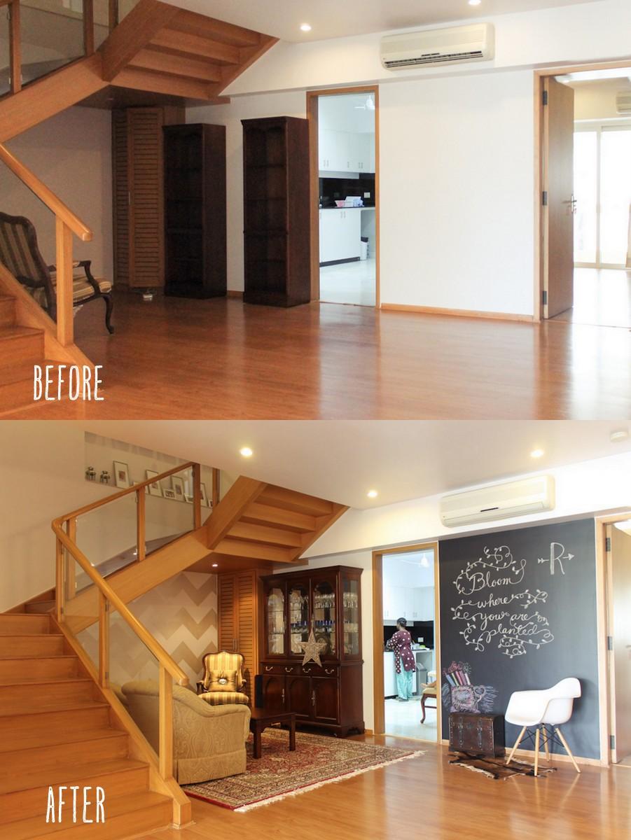 New Home Foyer : Chevron chalkboard wall in foyer ☆ new home mumbai